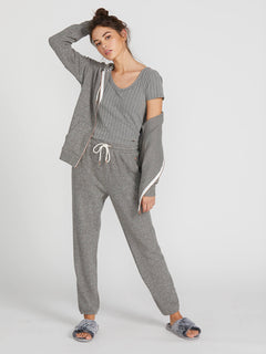 Lived In Lounge Zip Fleece - Charcoal Grey (B3111802_CHR) [3]