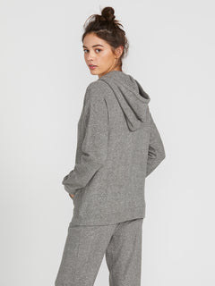 Lived In Lounge Zip Fleece - Charcoal Grey (B3111802_CHR) [B]