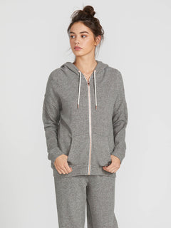 Lived In Lounge Zip Fleece - Charcoal Grey (B3111802_CHR) [F]