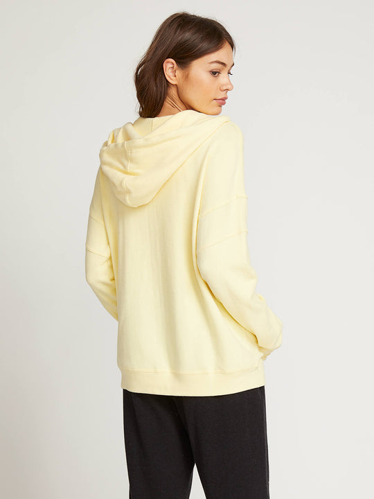 Lived In Lounge Zip Hoodie In Faded Lemon, Back View