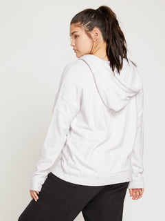 Lived In Lounge Zip Hoodie In Light Grey, Back Extended Size View