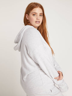 Lived In Lounge Zip Hoodie In Light Grey, Alternate Plus Size View