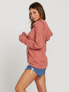 Lived In Lounge Zip Hoodie In Mauve, Alternate View