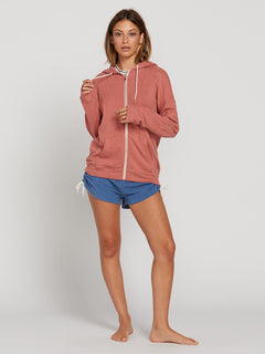 Lived In Lounge Zip Hoodie In Mauve, Third Alternate View