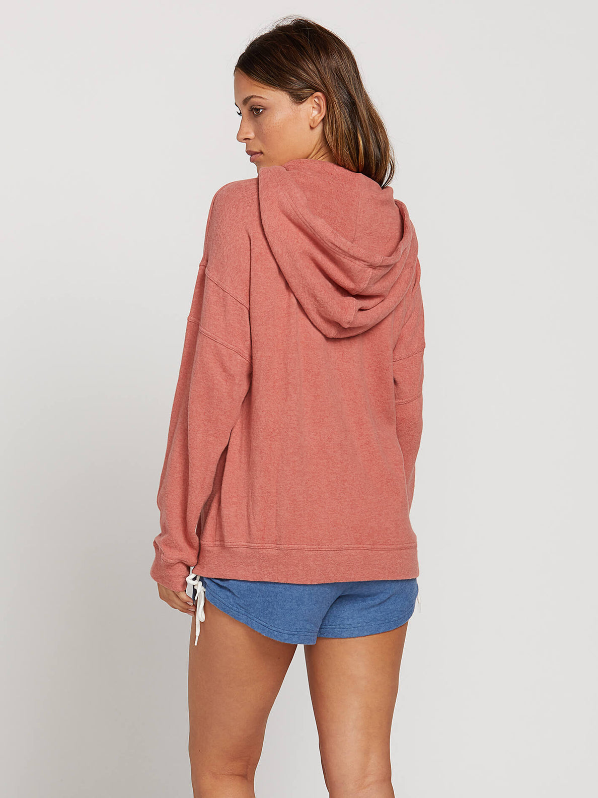 Lived In Lounge Zip Hoodie In Mauve, Back View
