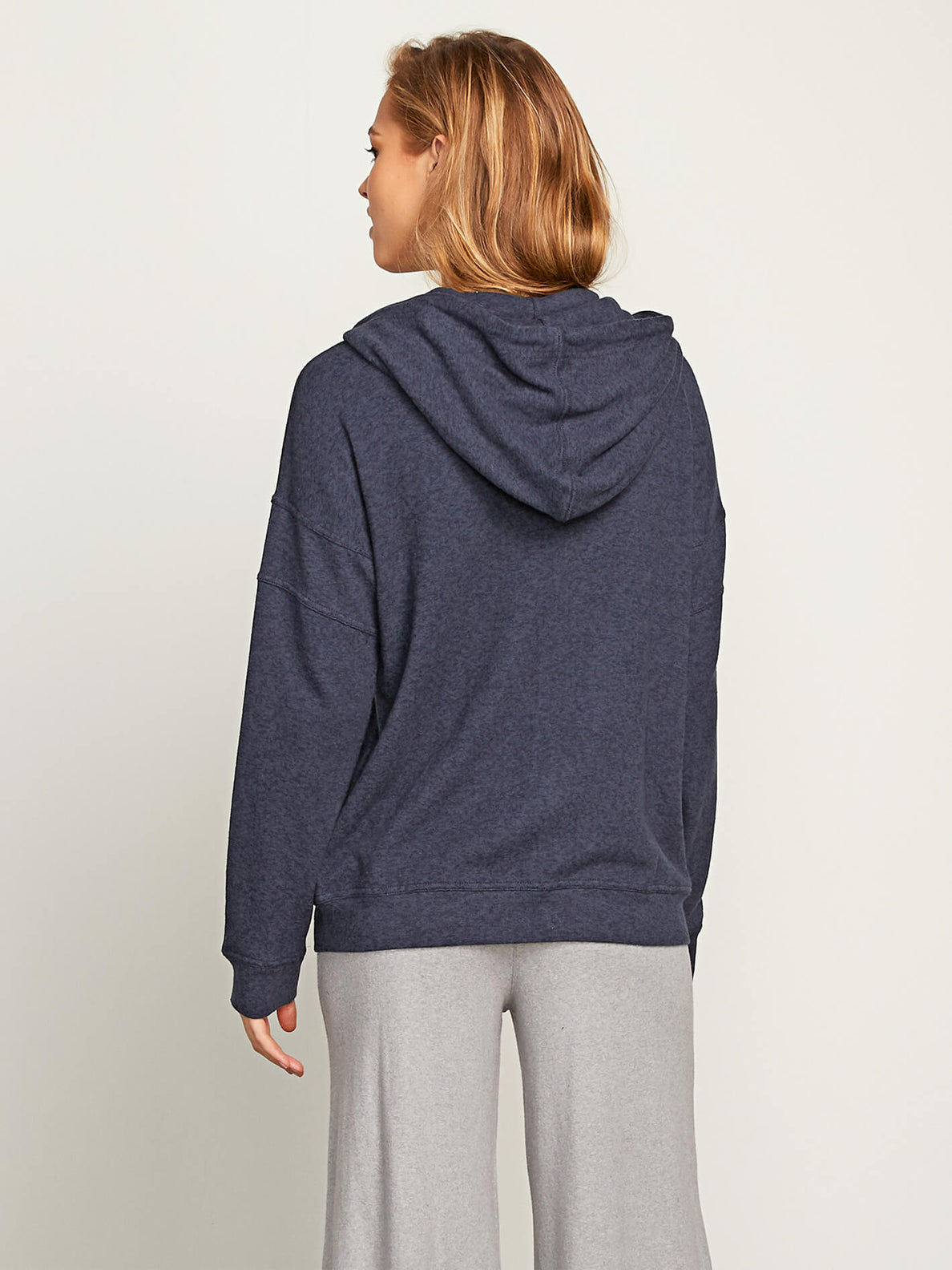 Lived In Lounge Zip Hoodie In Sea Navy, Back View