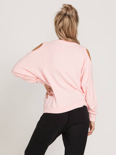 Lived In Lounge Crew Sweatshirt In Blush Pink, Back View