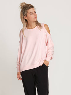 Lived In Lounge Crew Sweatshirt In Blush Pink, Front View
