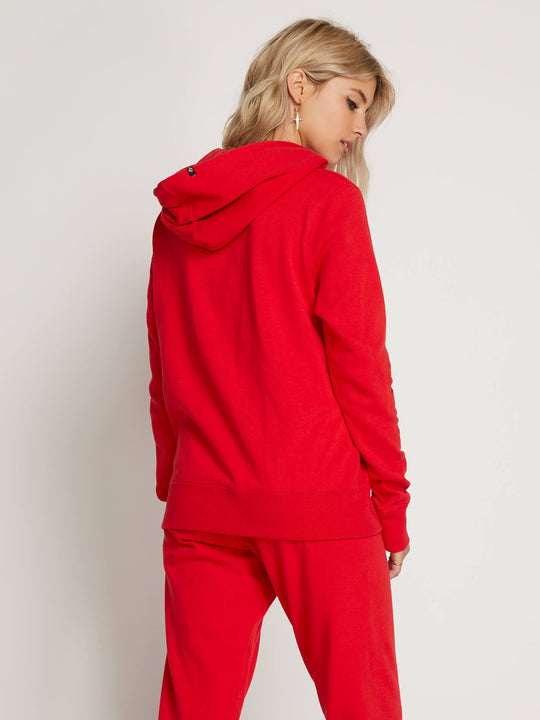 Vol Stone Hoodie In Red, Back View