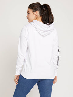Vol Stone Hoodie In White, Back Extended Size View