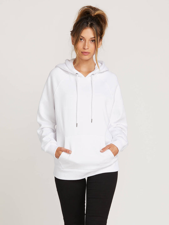 Gmj Hoodie In White, Front View