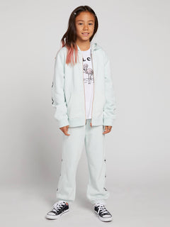 Big Girls Zippety Zip Sweatshirt In Smokey Blue, Front View