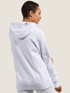 Vol Stone Hoodie In White, Back View