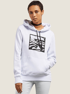 Vol Stone Hoodie In White, Front View