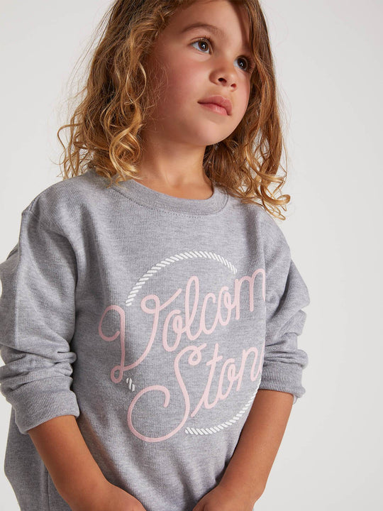 Little Girls Ponyin Along Crew Sweatshirt