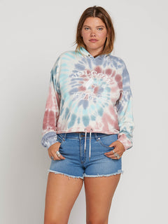 Knot It Hoodie In Multi, Front Extended Size View