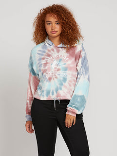 Knot It Hoodie In Multi, Front Plus Size View