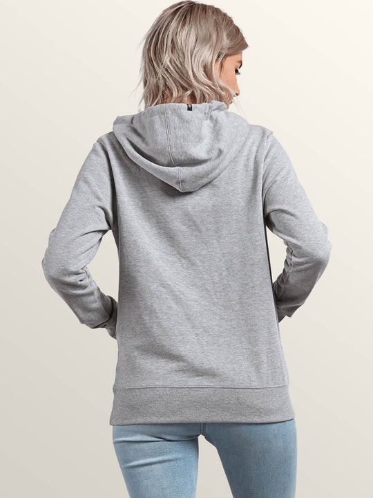 Vol Stone Hoodie In Heather Grey, Back View
