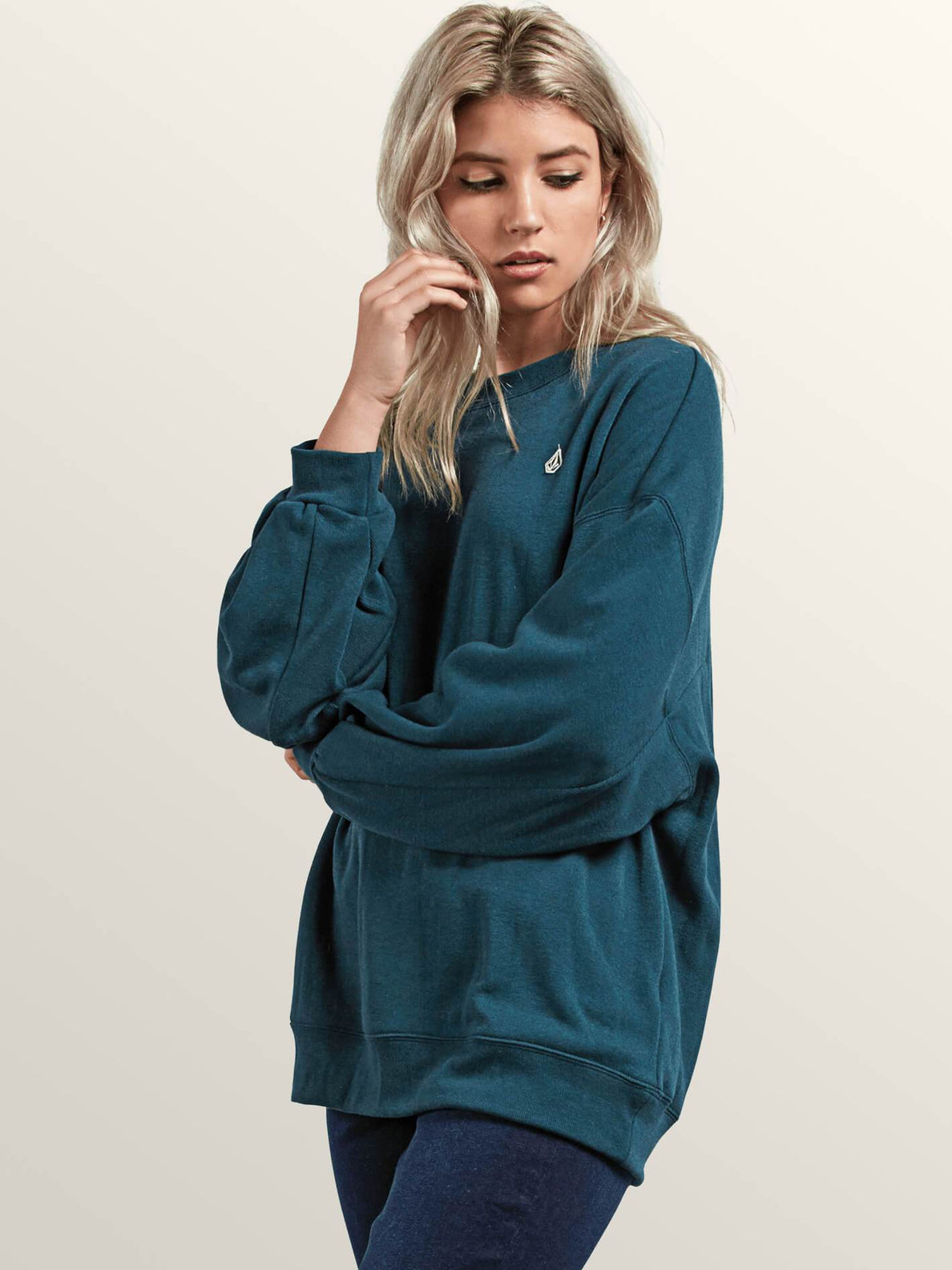 Darting Traffic Crew Sweatshirt In Evergreen, Alternate View