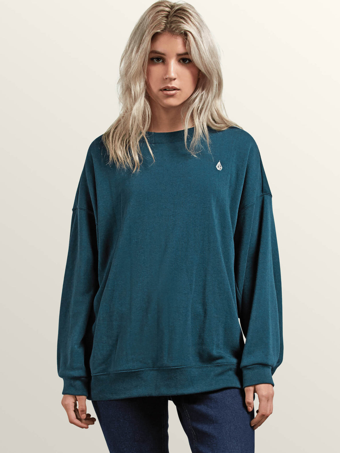 Darting Traffic Crew Sweatshirt In Evergreen, Front View