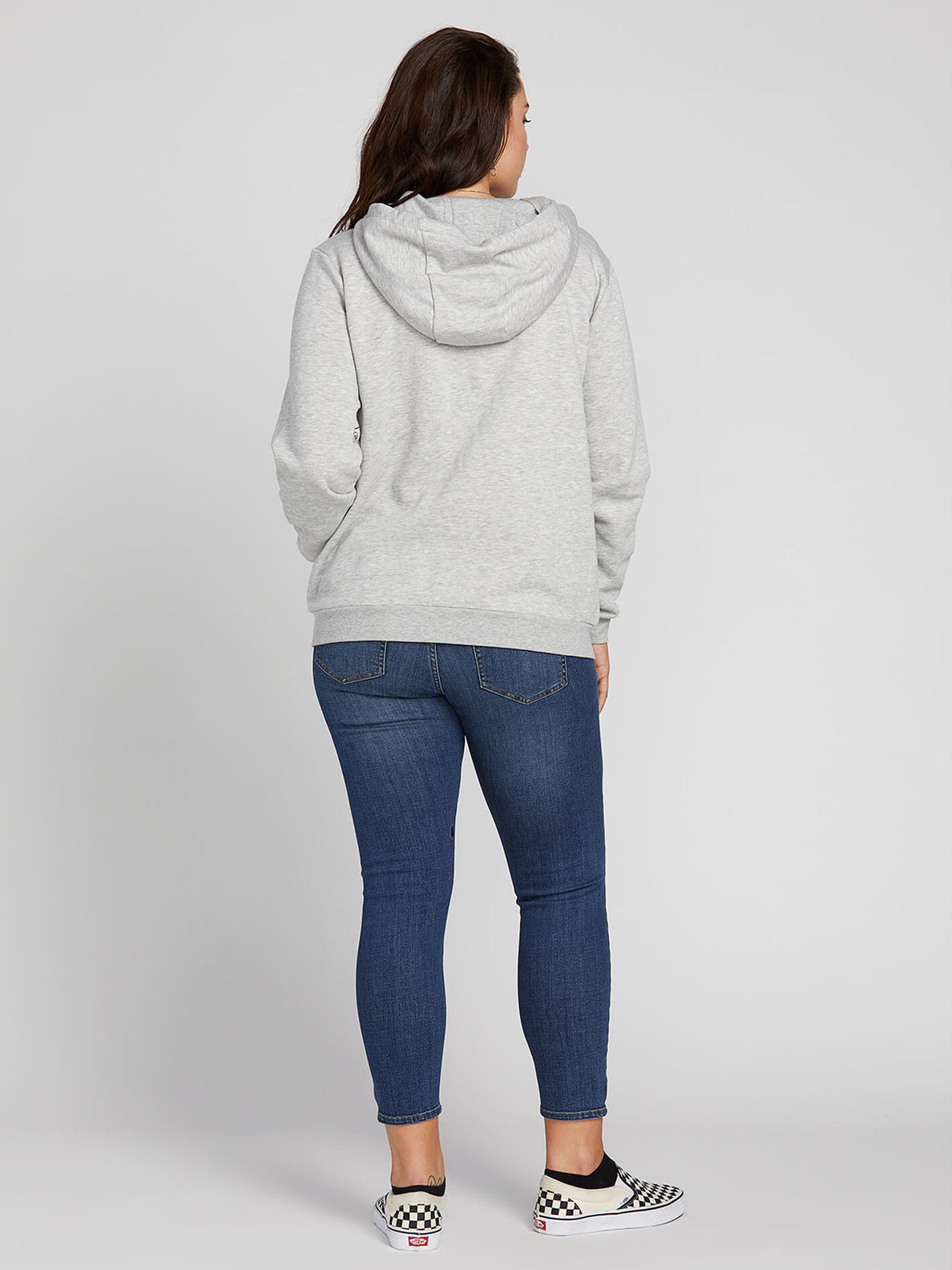 Walk On By High Neck In Heather Grey, Back View