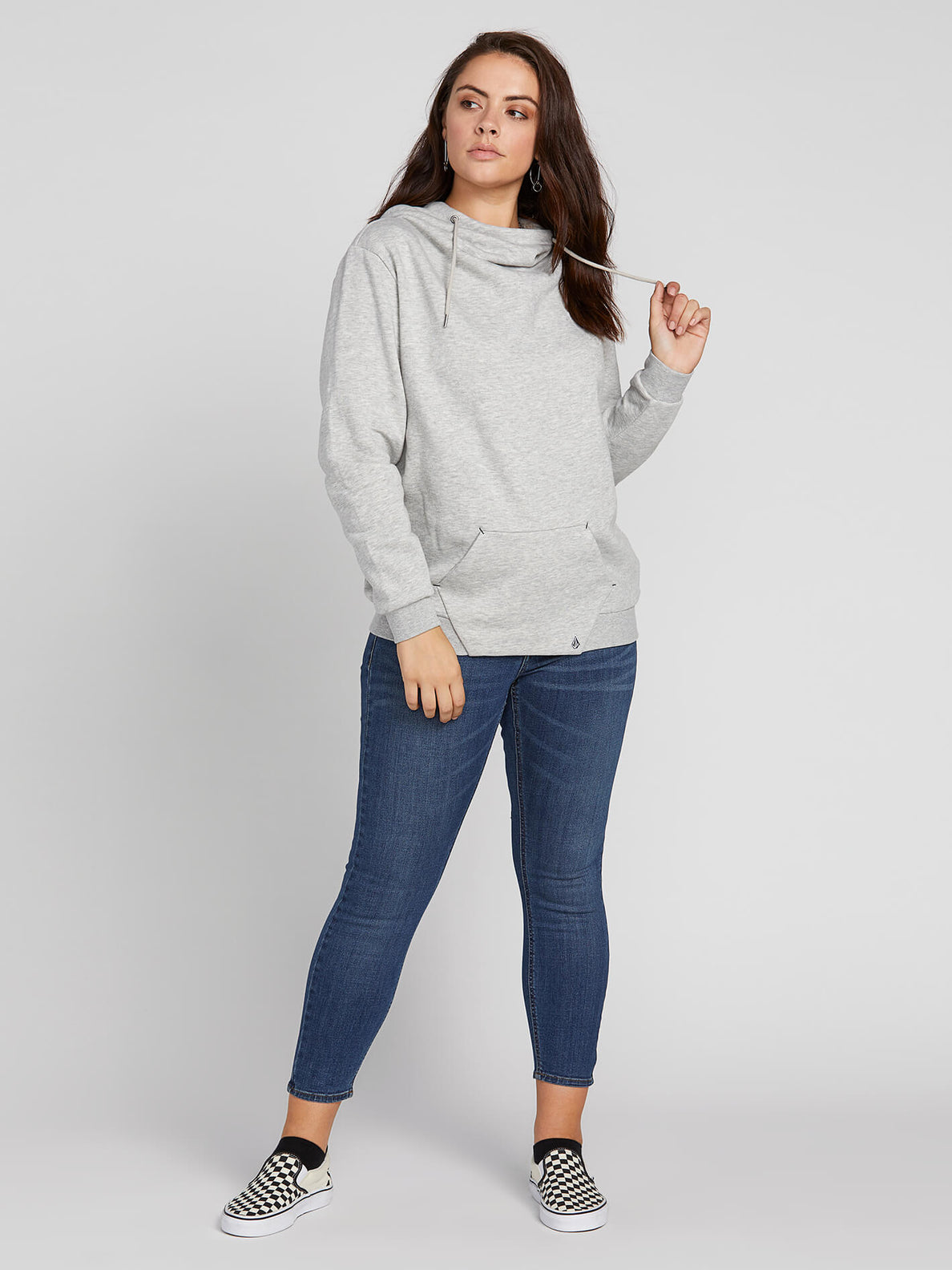 Walk On By High Neck In Heather Grey, Front View