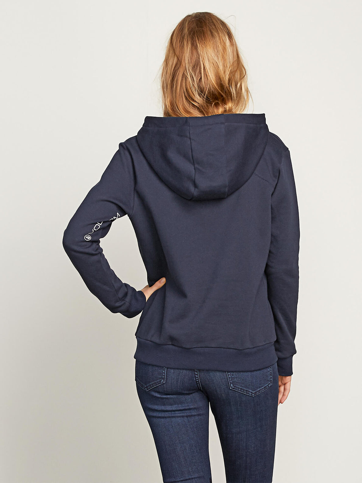 Walk On By High Neck In Sea Navy, Back View