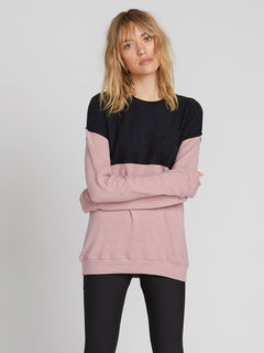 Lived In Lounge Crew Fleece - Faded Mauve (B3131900_FMV) [1]