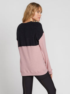 Lived In Lounge Crew Fleece - Faded Mauve (B3131900_FMV) [B]