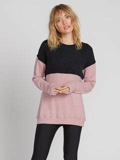 Lived In Lounge Crew Fleece - Faded Mauve (B3131900_FMV) [F]