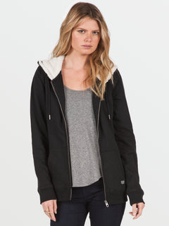 Lived In Sherpa Zip (B3141613_BLK) [1]