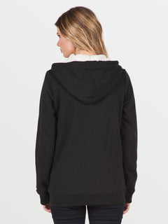 Lived In Sherpa Zip (B3141613_BLK) [B]