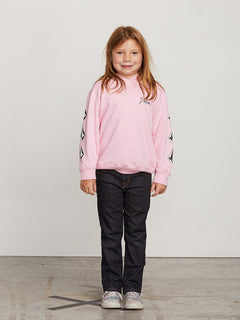 Little Girls Arm Candy Hoodie In Dusty Rose, Front View