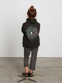 Big Girls Arm Candy Hoodie In Black, Back View
