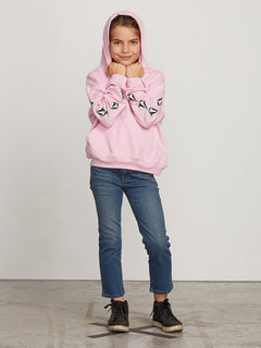 Big Girls Arm Candy Hoodie In Dusty Rose, Back View