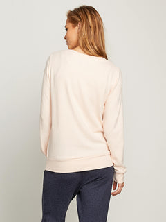 Lived In Lounge Crew Sweatshirt In Cloud Pink, Back View