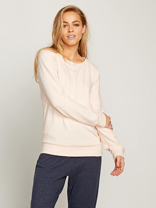 Lived In Lounge Crew Sweatshirt In Cloud Pink, Front View
