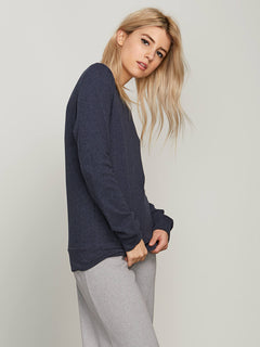 Lived In Lounge Crew Sweatshirt In Sea Navy, Alternate View