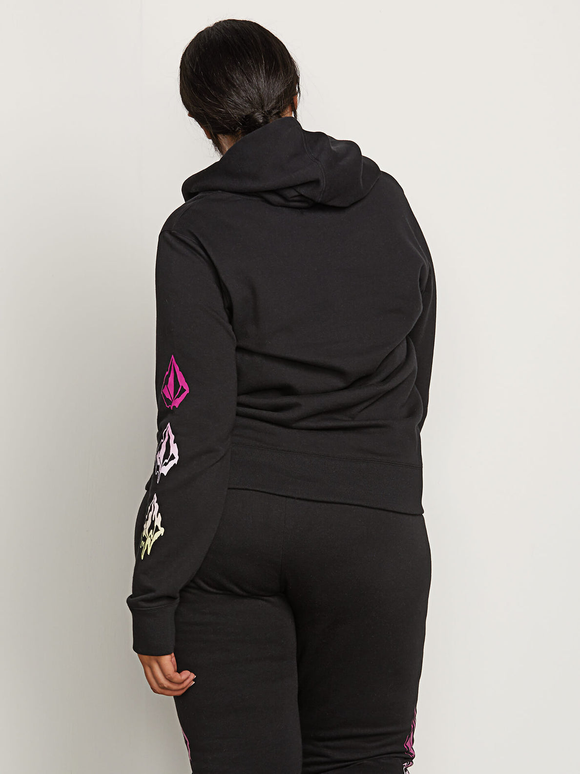 Vol Stone Hoodie In Black, Back Extended Size View