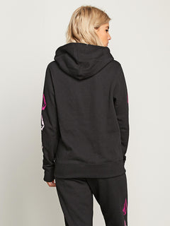 Vol Stone Hoodie In Black, Back View