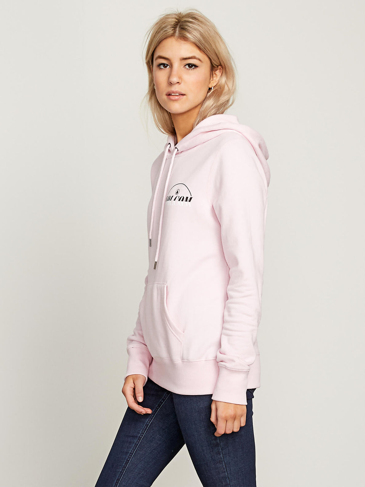 Vol Stone Hoodie In Faded Pink, Alternate View