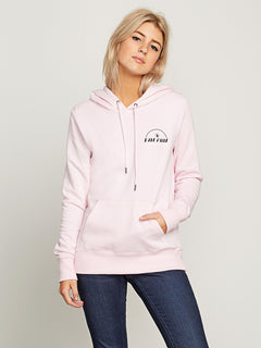 Vol Stone Hoodie In Faded Pink, Front View