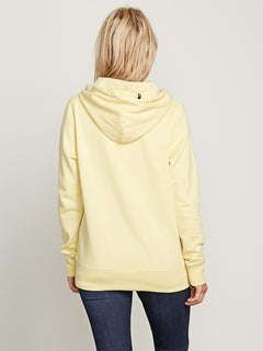Vol Stone Hoodie In Faded Yellow, Back View