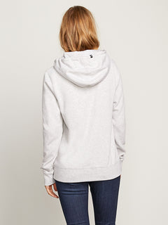 Vol Stone Hoodie In Light Grey, Back View