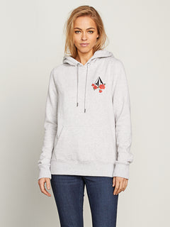 Vol Stone Hoodie In Light Grey, Front View