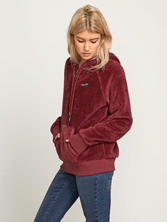 Snugz N Hugz Hoodie In Zinfandel, Alternate View