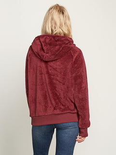 Snugz N Hugz Hoodie In Zinfandel, Back View