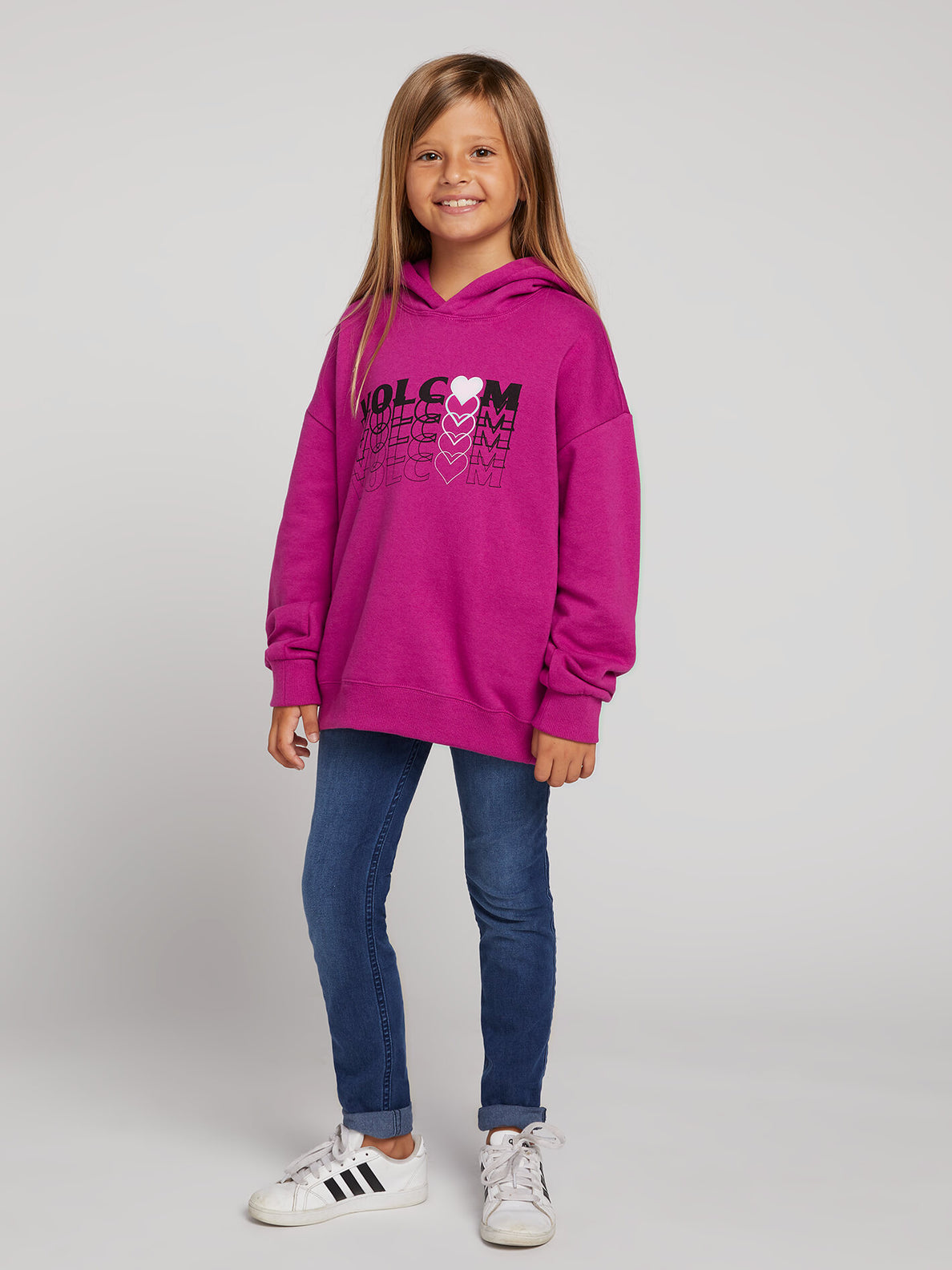 Big Girls Knew Wave Hoodie In Paradise Purple, Front View