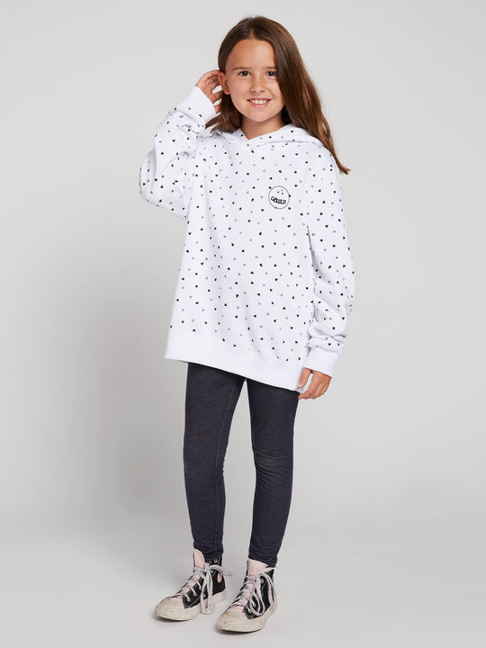 Big Girls Knew Wave Hoodie In White Combo, Front View