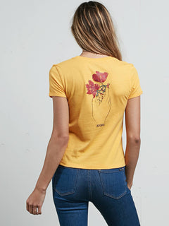 Don't Even Trip Tee In Citron, Back View